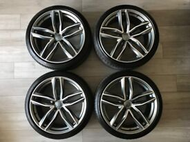 "Audi 20"" RS6 Style Alloy x 4 with Goodyear Eagle F1 Asy 3 x 4 (Like New)"