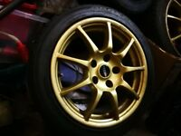"Rare MAK 16x7.5 16"" 5x112 5x100 vw audi subaru seat Mercedes alloy wheels gold cheap"
