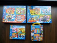 Paw Patrol Puzzles and Books in Excellent Condition - Perfect Present