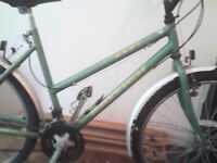 RALEIGH ZEST,LADIES MOUNTAIN BIKE,18 INCH FRAME,26 INCH WHEELS,18 GEARS,GOOD TYRES,MUDGUARDS.