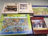 4 Quality jigsaw puzzles (2 wooden) in original boxes.
