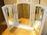 Dressing Table white Mirror