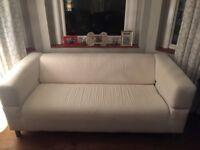 Used IKEA Two-seat sofa KLIPPAN - Ivory