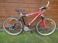 Giant ATX 840 mountain bike, 26 inch wheels, 21 gears, 17.5 inch aluminium frame, front suspension