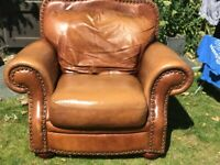 Leather Arm Chair (Tan)