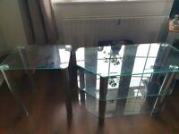 Free glass tv unit and table