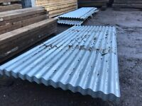 "8' x 26"" Heavy Duty Corrugated Galvanised Roofing Sheets"