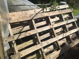 Two large pallets for collection