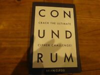 Brand New Conundrum Puzzle book with focus on codes and ciphers by Brian Clegg