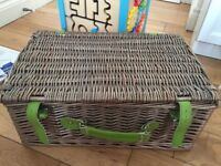 picnic basket with plates & cutlery