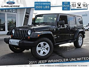 2011 Jeep WRANGLER UNLIMITED **SAHARA*4X4*2 TOITS*CRUISE*A/C**