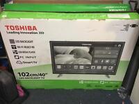 Toshiba 40inch smart TVs new with 2 month warranty