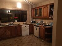 Kitchen for sale, high and low units, oven, hob, extractor fan, dishwasher