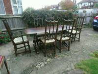 Dinning room table and chairs Colonial style