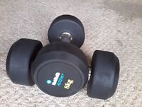 Fixed-weight dumbbells 2 X 8kg £24, as new