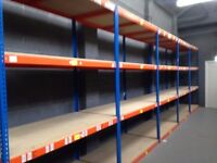 JOB LOT 5 bays Rapid 1 industrial longspan shelving 6ft high. ( pallet racking , storage )