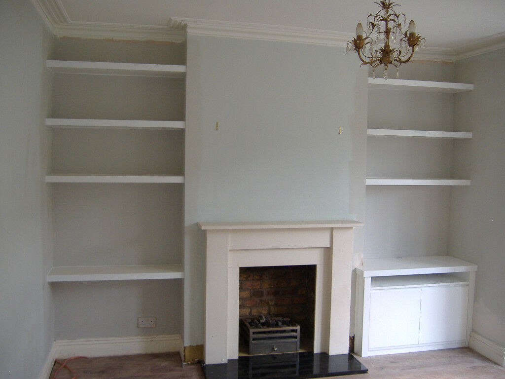 Alcove Fitted Wardrobes Cupboards Tv Unit Floating Shelves