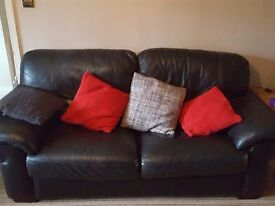 Black leather sofa set/couch