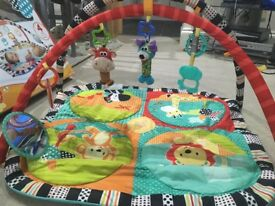 Bright star baby Play gym, mat and toys.