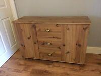 Wooden storage unit sideboard
