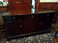 STAG MINSTREL THREE DOOR SIDEBOARD (3 drawers and 3 cupboards).
