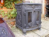 Lovely Heavy Cast Iron Wood Burning Stove