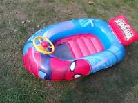 Spiderman inflatable boat