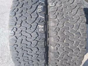 275/60R20 x2 BFGOODRICH ALL TRAIN 119/116S  T/A K02  (275/55R20 ,RAM 1500)USED FOR SALE