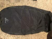 Excellent Condition Black Quinny Cosytoes Foot Muff. Lovely And Warm, Soft Liner.