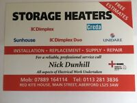 Electric Storage Heater Installation- Replacement-Supply- Repair