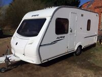 sprite alpine 2008 model all paperwork 4 berth fixed bed,mint condition,no damp,
