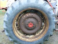 Tractor wheels and radial tyre's good condition