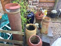 3 x Vintage CHIMNEY POTS - all different designs, will sell seperately - Terracotta / Crown / Vented