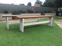 Reclaimed Farmhouse Benches - Brand New