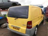 Mercedes vito 108d spare parts available door bumper bonnet wing light radiator seats