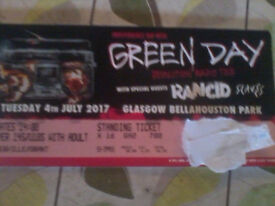 1 Green Day ticket for sale