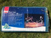 Christmas Rope Light Garden Decoration (4m Cable) and Stand alone Father Christmas