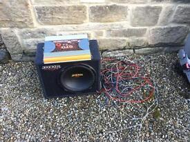 Kicker subwoofer amp and wiring kit