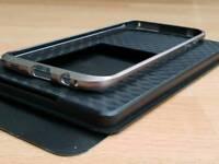 Samsung Galaxy S7 edge titanium bumper case