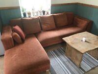 Large corner sofa with detachable Chaisse long