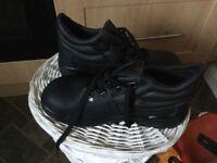 Steel toe cap work boots