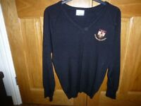 Aylsham High School Seniors Black V neck jumper size 34 good used condition