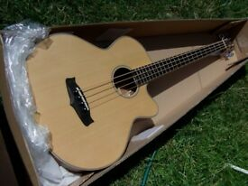 tanglewood electro acoustic bass with fishman tuner pickup