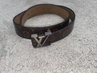 Brown & Gold Louis Vuitton Belt