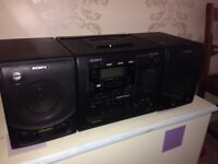 Sony CD radio cassette recorder