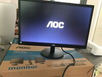 AOC LED 21.5 Monitor E2270SW Boxed Excellent condition