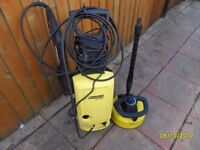 Karcher pressure washer with patio attachment
