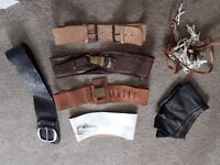 Collection of Womens Belts - sizes small to medium.