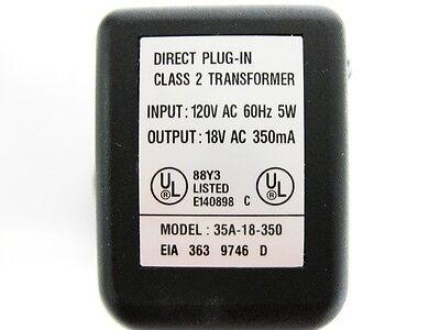 Direct Plug-in Transformer Model 35a-18-350 120v Ac 60hz 5 W 18v Ac 350ma New