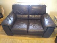DFS leather sofa set 3 and 2 seater